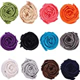 Noble Mount Womens Solid Pashimna Shawl/Wrap Wholesale Assorted Colors - 12 Pack