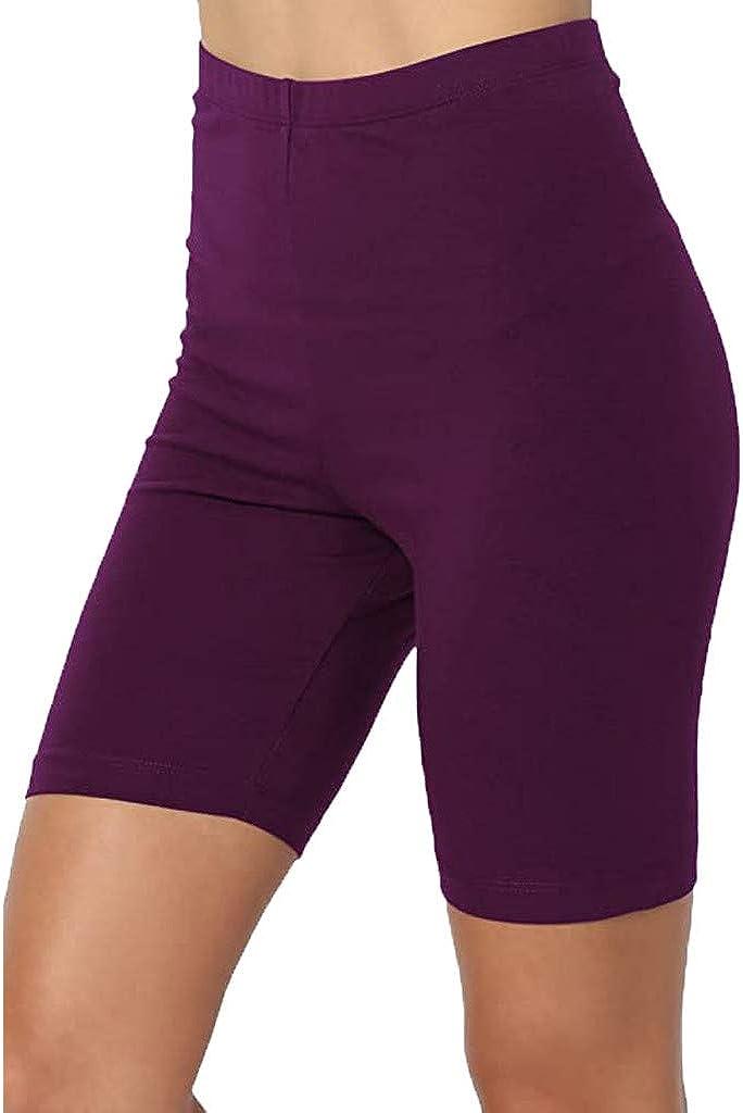 Kansopa Women's Skinny Knee Length Wholesale Stretch Shorts Sport Pul Max 89% OFF Yoga