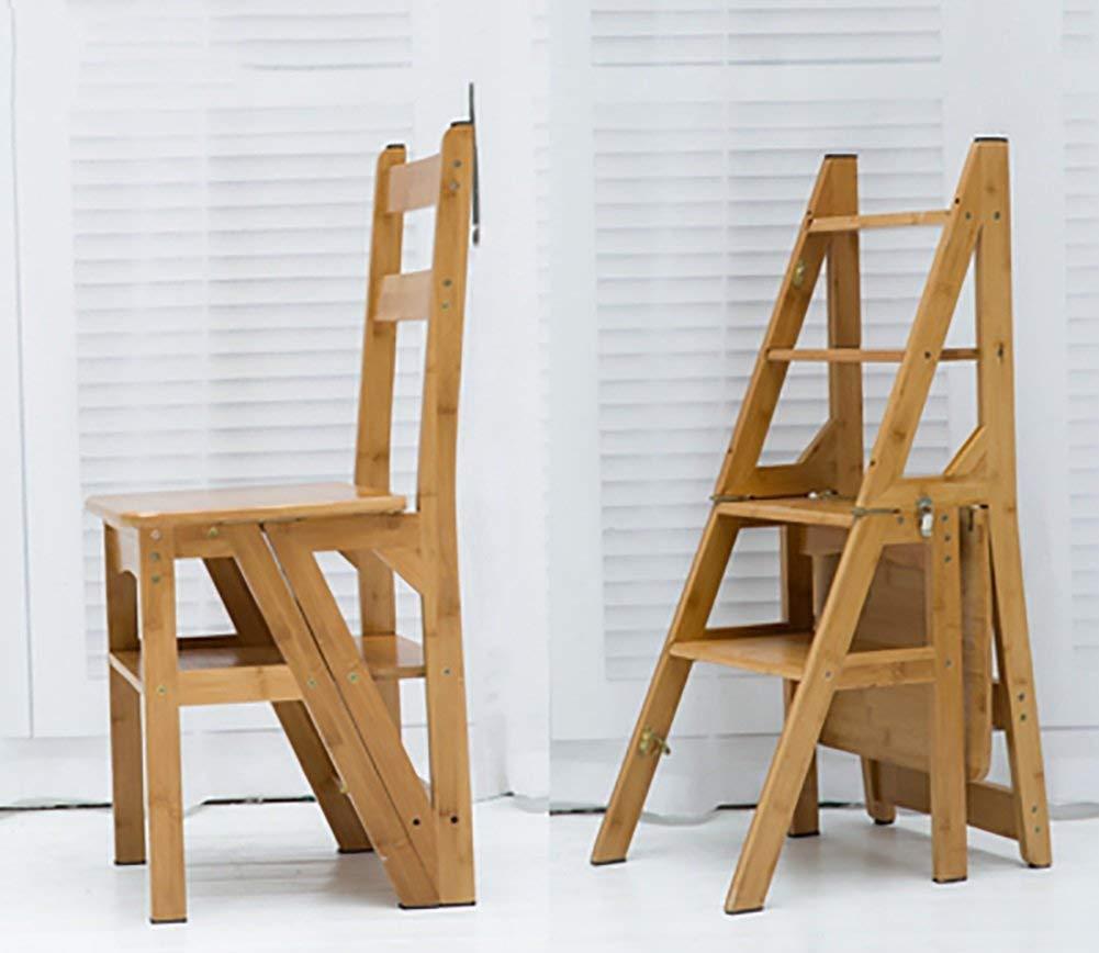 WLG Paso de Heces para Adultos Soporte Plegable Silla Escalera Multi Hogar Capa de Almacenamiento de Escalera de Doble Uso de la Flor / H2 / h2: Amazon.es: Bricolaje y herramientas
