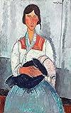 AMANUO Amedeo Modigliani Impresiones Pinturas Famosas sobre Lienzo Humanas 40X65 cm Cuadros Enrollada - Mujer Gitana Con Bebé