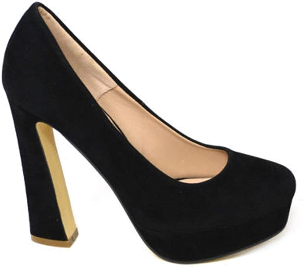 de 5 pulgadas de ante sint/ético talla 3-8 puntera cerrada Zapatos de tac/ón de bloque para mujer