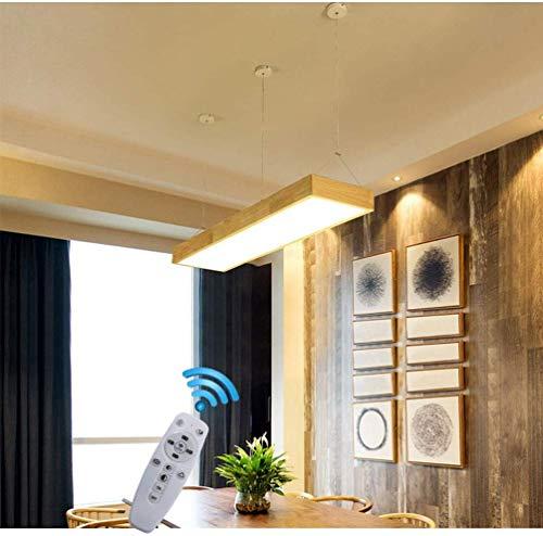 H-ei Luz De Madera Lámpara LED, Una Sombra De Acrílico Diseño Amortiguador Alejado 90 Cm