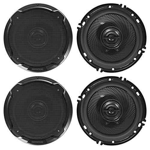 (4) Kenwood KFC-1696PS 320 Watt 6.5' 2-Way 4-Ohm Car Stereo Speakers