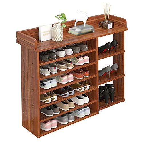 Organizador de almacenamiento de zapatero Rack de zapatos Organizador de zapatos grande Cocina Cocina Vajilla Almacenamiento Rack Sala de estar Dormitorio Corredor Zapato Estante Cambio de zapatos (7