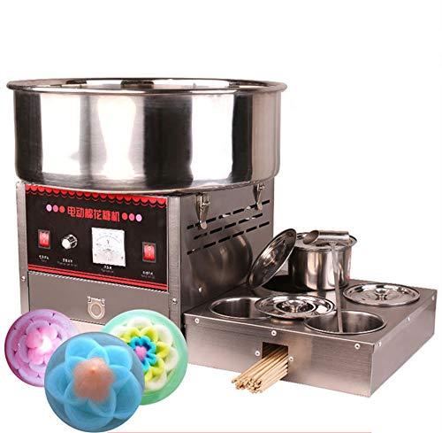 NEWTRY Máquina de azúcar hilada de color automático de azúcar de caramelo de algodón comercial eléctrica de caramelo de malvavisco (110V)