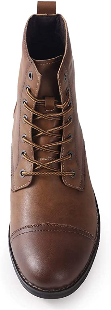 Ork Tree Mens Boots Combat Dress Fashion Lace up Motorcycle Boot for Winter