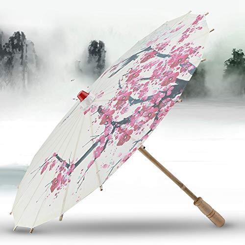 MOUMOUTEN Parasol de Estilo japonés Parasol de Papel Hecho a Mano Parasol Tradicional Chino para fotografía de Disfraces de Baile