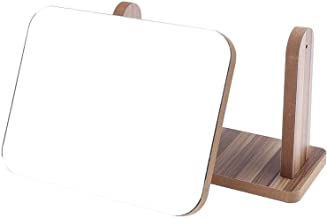 Mode make-up spiegel houten dames make-up desktop roterende houten spiegel for montage rechthoek vorm cosmetische spiegel