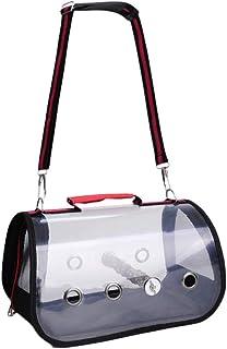 حقيبة شفافة لنقل طيور الببغاء من بالاكو (لون احمر وحجم S)