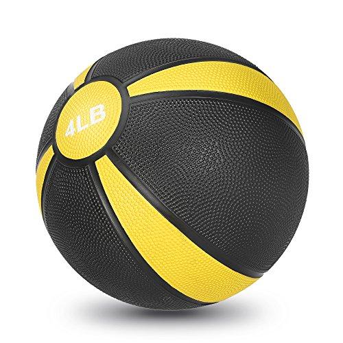 JBM Medicinal Workout Slam Ball, Yellow - 4LB