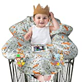 Shopping Cart Cover for Baby Girl boy, Cotton High Chair Cover, Anti-Slip Design Machine Washable for Infant, Toddler, Large