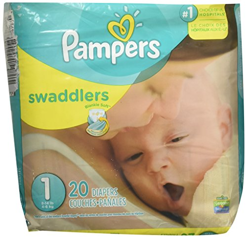 Pamper Swaddler Size 1 20 diapers by Pampers