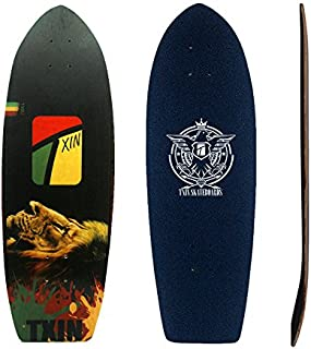 TXIN - Surfskate Deck Rasta Lion 31 - Surf Skate...