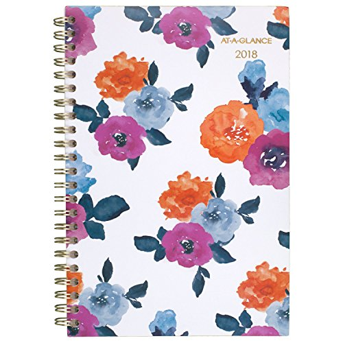 """AT-A-GLANCE Weekly / Monthly Planner, January 2018 - December 2018, 4-7/8"""" x 8"""", Eva (1044-200)"""