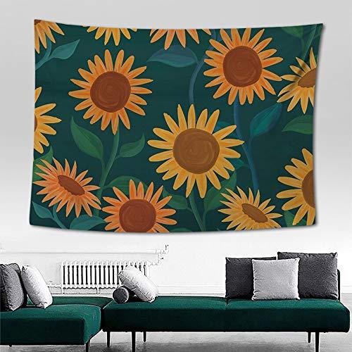 N / A Tropische Pflanze Sonnenblumen Wandteppich Wand Polyester böhmischen Kaktus Bananenblatt Sonnenblume gedruckt Wandteppich Strandtuch Hauptdekoration Wandteppich A7 100x150cm