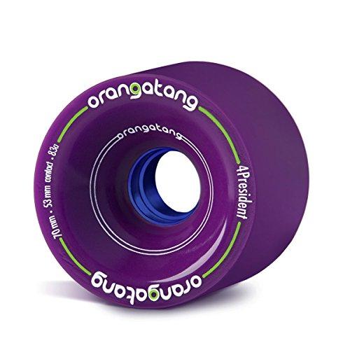 Orangatang 4 President 70 mm 83a Cruising Longboard Skateboard Wheels (Purple, Set of 4)