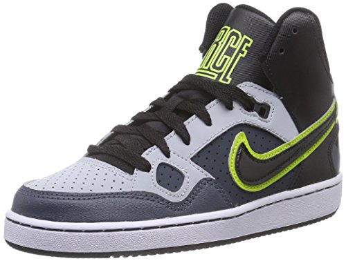 Nike Son Of Force Mid 615158-013 Jungen High-Top Sneaker Mehrfarbig (Lt Mgnt Gry/Blck-Dk Mgnt Gry-F), 39 EU