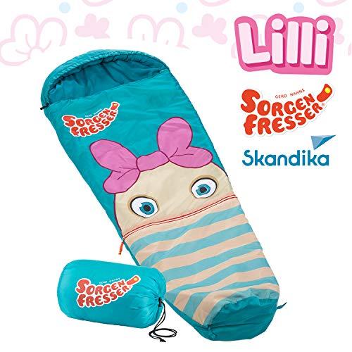 Skandika Sorgenfresser Schlafsack für Kinder mit großer Tasche (bis -12°C) (Lilli)
