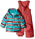 Columbia Kids' Toddler Frosty Slope Set, Wild Salmon Strokes, 3T