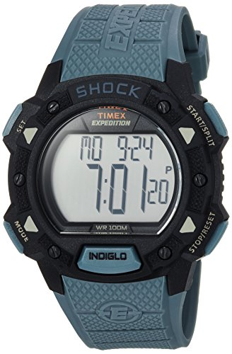 Timex Men's TW4B09400 Expedition Base Shock Blue/Black Resin Strap Watch