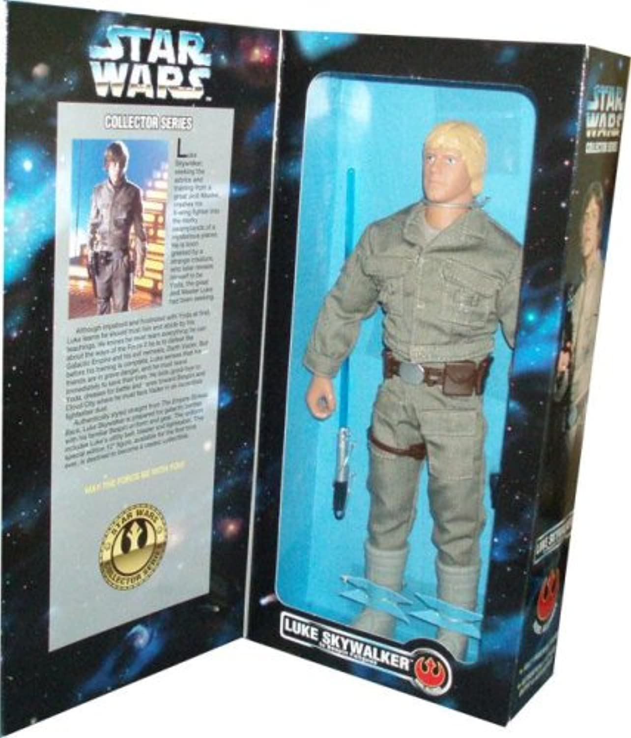 Kenner Year 1996 Star Wars Collector Series 12 Inch Tall Fully Poseable Figure with Authentically Styled Outfit and Accessories  Luke Skywalker in Bespin Fatigues with Blaster Pistol and Lightsaber