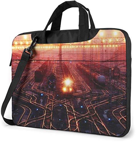 13-15.6 Inch Laptop Shoulder Bag, Tree Art Drawing Laptop Messenger Bag Notebook Protective Handbag Briefcase