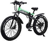 RDJM Bici electrica, Bicicleta de montaña eléctrica de 26' Bicicleta Plegable eléctrica de 48V 500W 12.8AH Ocultos Diseño de batería con Pantalla LCD adecuados Speed Gear 21 y Tres Modos de Trabajo