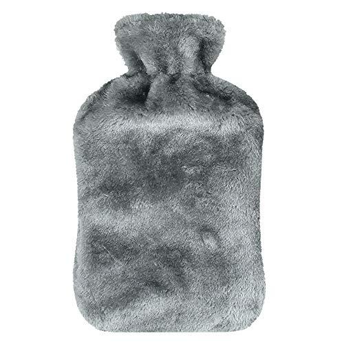 Waermflasche mit bezug, Infreecs Wärmflaschen 2 Liter mit weichem Bezug - Geprüft Und Frei Von Schadstoffen - Schnelle Schmerzlinderung und Komfort