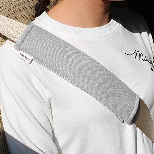 GAMEPRO Gurtpolster, 2-Pack Polsterung für AutogurtSoft Auto Sicherheitsgurt Gurt Schulterpolster für Erwachsene und Kinder, Geeignet für Auto Sicherheitsgurt, Rucksack, Umhängetasche (Grau)