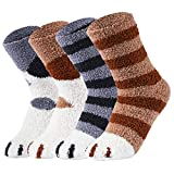 vbiger calzini donna inverno caldo calze in pile corallo