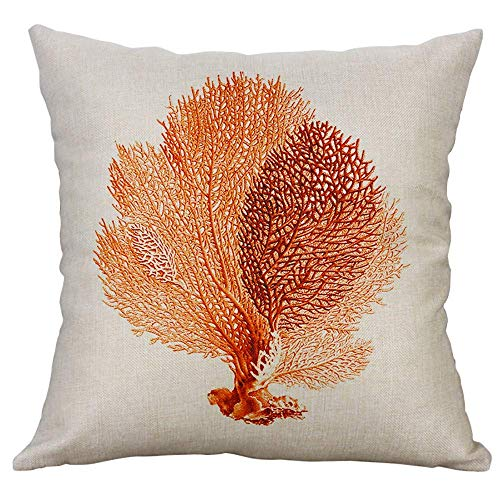 Lxhff Pillowcase, Marine Life Coral Sea Turtle Seahorse Whale Octopus Cushion Cover Pillow Cover, Home & Garden (Color : -, Size : -)