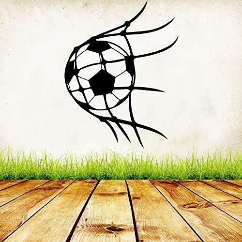 Objetivo creativo Bola divertida en la red DIY Vinilo Calcomanía Fútbol Fútbol Deporte Decoración para el hogar Sala de estar Dormitorio Arte Etiqueta de la pared Niño regalo para niños
