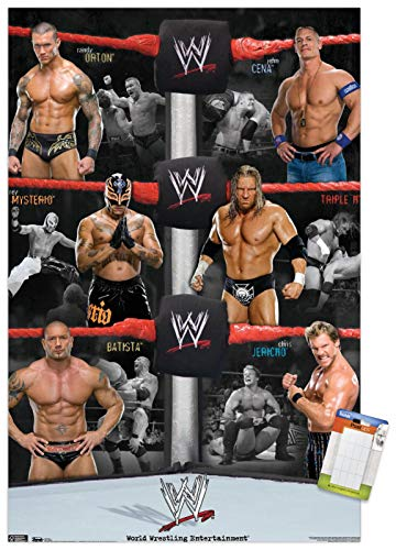 Trends International WWE - Group Wall Poster, 22.375' x 34', Premium Poster & Mount Bundle