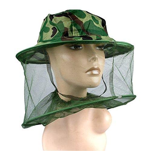 Kcopo Bienenzucht Hut Camouflage Patten Imker Gesichtsmaske Moskito Kopfnetz Tarnung Hut Für Kopfschutz Insektenschutz Mückenschutz Grün