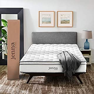 "Modway Jenna 10"" Full Innerspring Mattress - Top Quality Quilted Pillow Top - Individually Encased Pocket Coils - 10-Year Warranty"