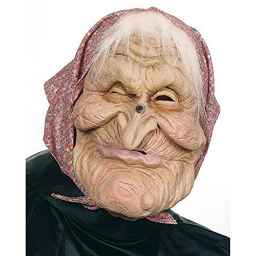 NET TOYS Halloween Maske Oma Hexenmaske Horrormaske Hexe Walpurgisnacht Halloweenmaske