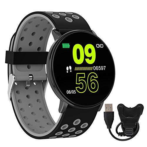AMONIDA Mehrsprachiges Multifunktions-Smart-Armband, W8S-Ultra-Thin-Smart-Armband mit einem Tastendruck, älter für Frauen, Kinder, Männer