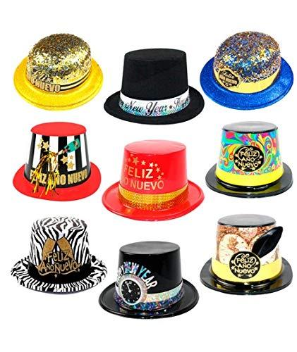 Cotillón Nochevieja Pack Sombreros Año Nuevo (10 uds) Plástico
