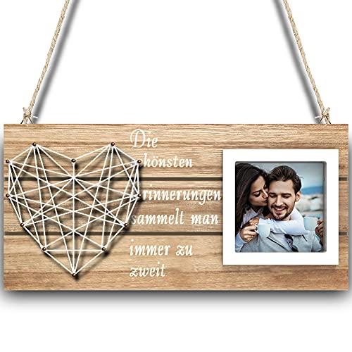 COOWOO Bilderrahmen, Familie Holzdekorationen Bilderrahmen Bilderrahmen, Schöne Geschenke für geliebte Familien, Verwendet für 4x6 Fotos