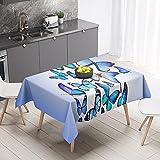Mantel de Moda con Estampado de Mariposas, Mantel Rectangular Impermeable, Adecuado para Bodas, Mesa de café, Cocina M-10 140x180cm