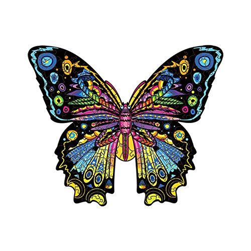 FHDD 3D Holz Puzzle Butterfly Erwachsene Kinder Umweltfreundliche Holz DIY Crafts Tierförmiges Puzzle Puzzle,S