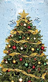 Window Poster Christmas Christmas Tree with Frosted Background by WOWindows USA-Made USA-Made Decoration Includes 1 Reusable 34.5