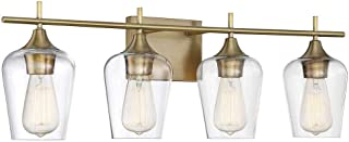 Savoy House Octave 4 Light Bath Bar 8-4030-4-322 in Warm Brass
