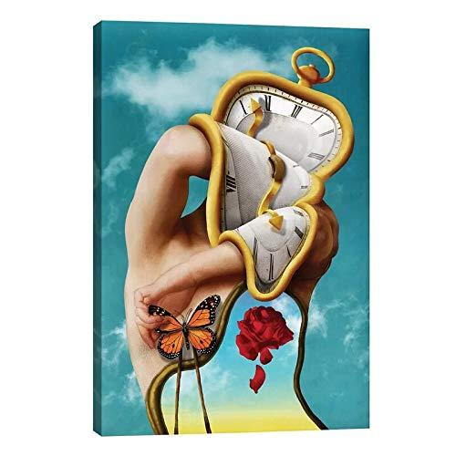 Abkaeh Jigsaw Puzzle 1000 Piezas Arte Abstracto Reloj Hombre Puzzle Educational Game Juguete para aliviar estrés Juego Intelectual Cerebro Desafío 50x75cm