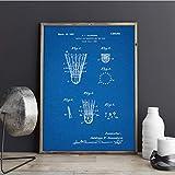 MXIBUN Poster Und Drucke Badminton Shuttle Blueprint