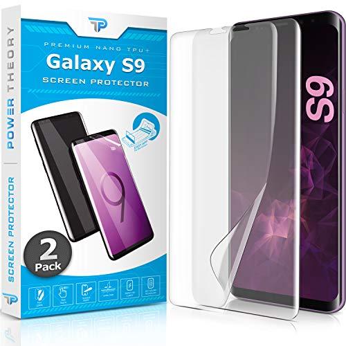 Power Theory Schutzfolie für Samsung Galaxy S9 [2 Stück] - [KEIN Glas] 3D Nano-Tech Panzerglasfolie, Panzerglas Folie, 100% Fingerabdrucksensor, Einfache Installation, Displayschutz Panzerfolie