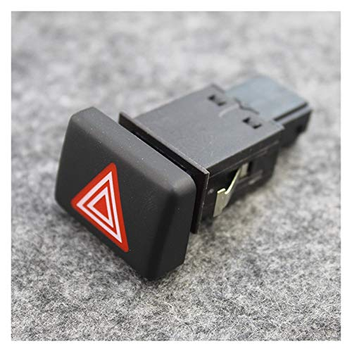 zhuzhu Botón de Cubierta ficticia Cortina ESP Interruptor de Peligro Advertencia DE Emergencia Ajuste para A4 2003-2008 8ED941509 8ED927134C (Color : Warning Switch)
