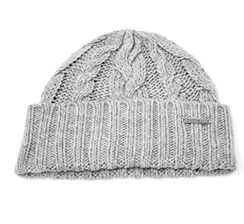 Michael Kors Damen Mütze mit Zopfmuster - Grau - Einheitsgröße