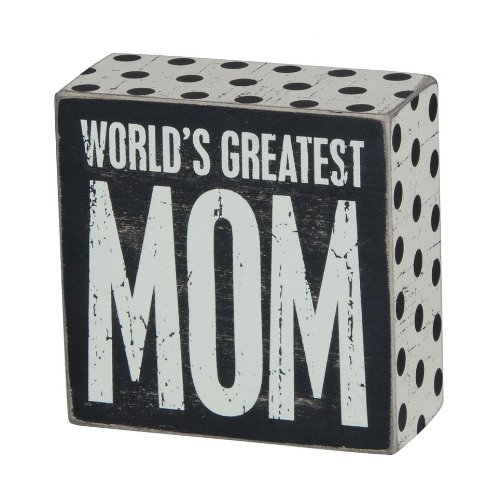 Primitives by Kathy Family, Box Sign, World's Greatest Mom