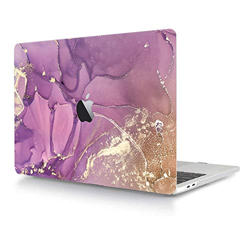 Hard Case Compatible with MacBook Air 11 Inch (Models: A1370 & A1465),AJYX Plastic Pattern Hard Case Shell Protective Cover for Mac Air 11.6',Purple Painting YH14